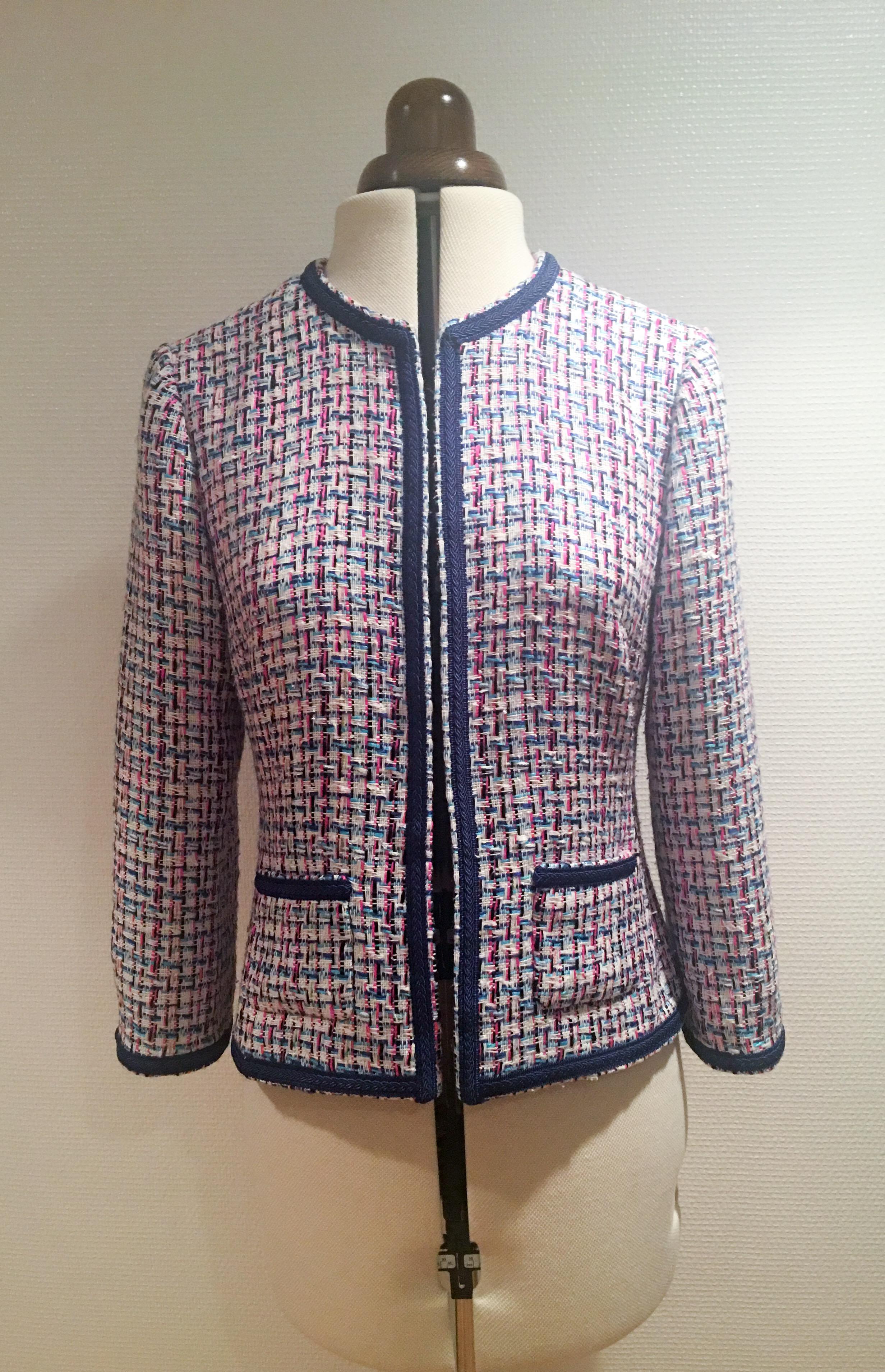 f3b9768aaf29 CHANEL INSPIRED JACKET - Antoinette Dresses Sweden Silk dresses for all  occasions
